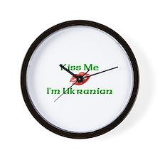 Kiss Me I'm Ukranian Wall Clock