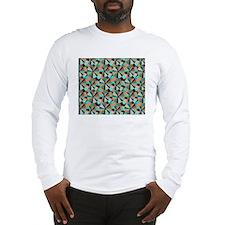 Cute Aqua circles Long Sleeve T-Shirt