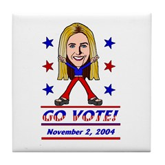 Vote 2004 Color Tile Coaster