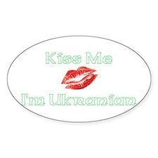 Kiss Me I'm Ukranian Oval Decal