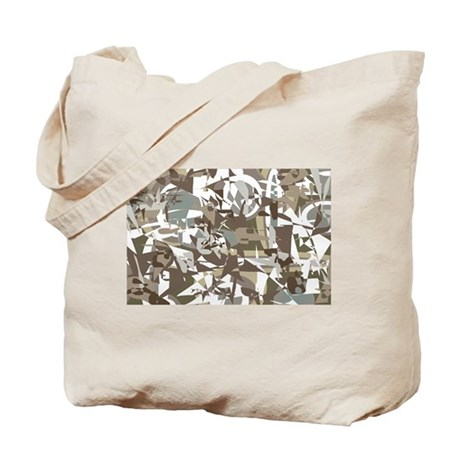 Abstract Retro Neutral Tote Bag