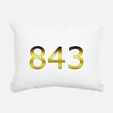 843 Burgezz Elite Crest Rectangular Canvas Pillow