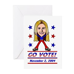 Vote 2004 Color Greeting Cards (Pk of 10)