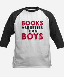 Books are better than boys Baseball Jersey