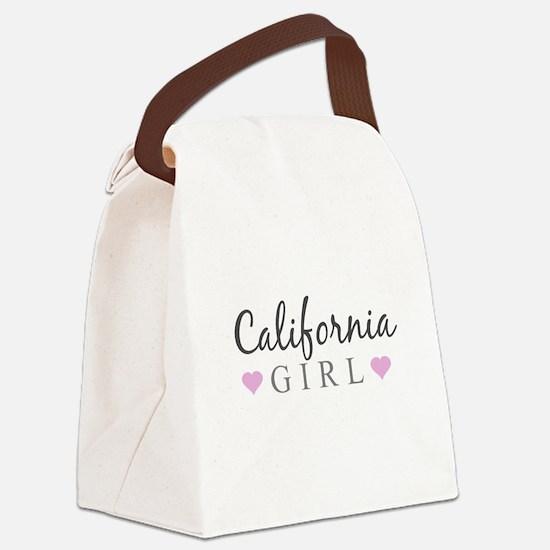 California Girl Canvas Lunch Bag
