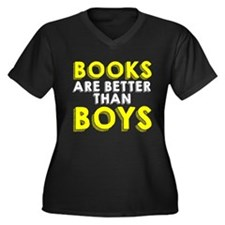 Books are better than boys Plus Size T-Shirt