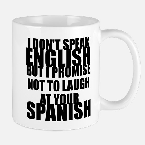 I don't speak English Mug