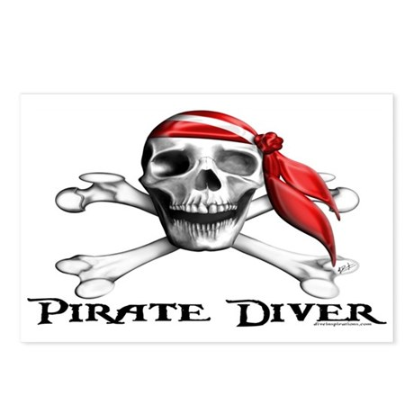 Pirate Diver Postcards (Package of 8)