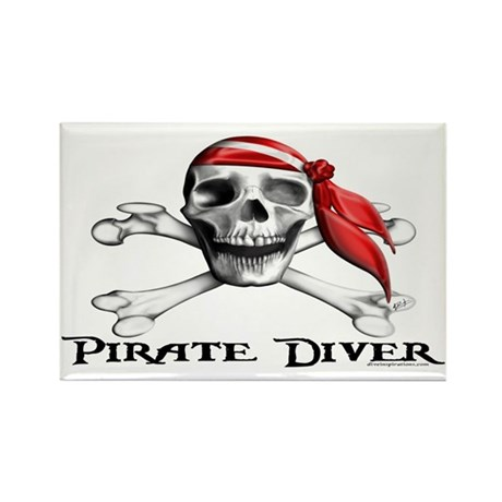 Pirate Diver Rectangle Magnet