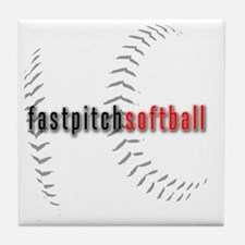 Fastpitch Softball Tile Coaster