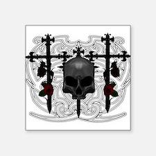 Headstone Skull Sticker