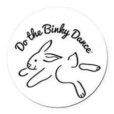 DO THE BINKY DANCE in black Round Car Magnet
