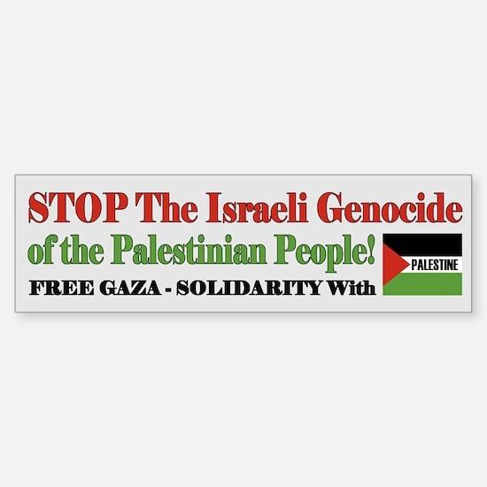 Zionist Genocide - Sticker (Bumper 10 pk)