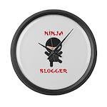 Ninja Blogger Large Wall Clock