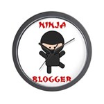 Ninja Blogger Wall Clock