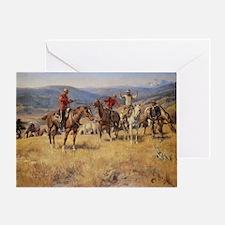 Vintage Cowboys Greeting Card