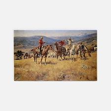 Vintage Cowboys 3'x5' Area Rug