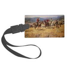 Vintage Cowboys Luggage Tag