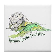 Carmel Sea Otter Tile Coaster