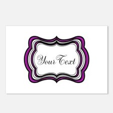Personalizable Purple Black White Postcards (Packa