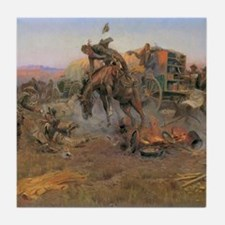 Vintage Cowboys Tile Coaster
