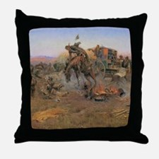 Vintage Cowboys Throw Pillow