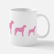 Irish Wolfhounds (pink) Mugs