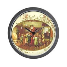 Father Christmas Wall Clock