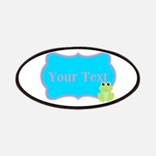Personalizable Frog on Pink Teal Patches