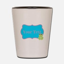 Personalizable Frog on Pink Teal Shot Glass