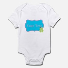 Personalizable Frog on Pink Teal Body Suit