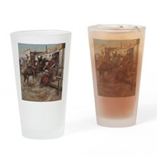 Vintage Cowboys Drinking Glass