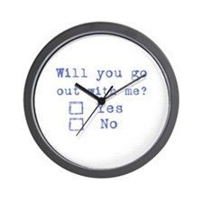 Will you go out with me? Wall Clock