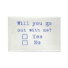 Will you go out with me? Rectangle Magnet