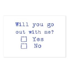 Will you go out with me? Postcards (Package of 8)