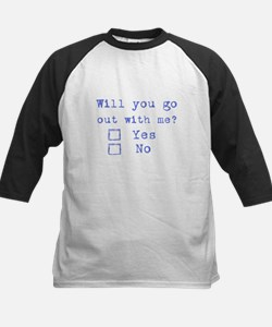 Will you go out with me? Kids Baseball Jersey