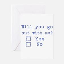 Will you go out with me? Greeting Cards (Package o