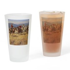 Cute American outlaws Drinking Glass