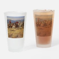 Cute American pioneer Drinking Glass