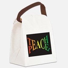 Funny Peace Canvas Lunch Bag