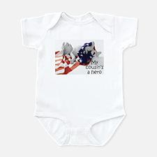 Cousin's a hero Infant Bodysuit