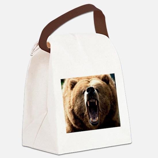 Cute Bear Canvas Lunch Bag