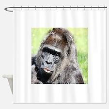Cute Macaque Shower Curtain