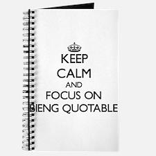 Unique Quotable quotes Journal