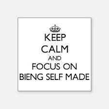 Keep Calm and focus on Bieng Self-Made Sticker