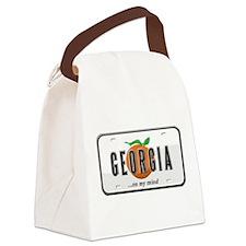 Funny Georgia Canvas Lunch Bag