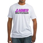 Ladies Lower Your Shields Fitted T-Shirt