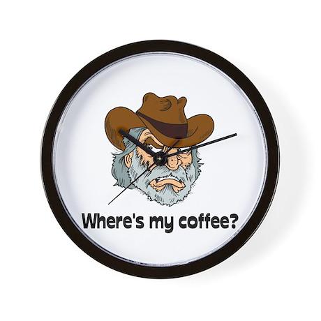 Where's My Coffee? Wall Clock