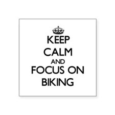 Keep Calm and focus on Biking Sticker