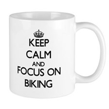 Keep Calm and focus on Biking Mugs